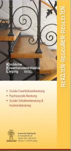 Flyer Schuldnerberatung Insolvenzberatung psychosoziale Beratung Erwerbslosenberatung