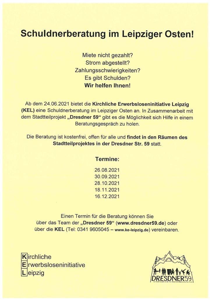 Flyer Schuldnerberatung Leipziger Osten